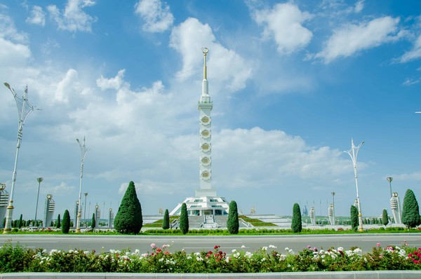 A historical monument in Turkmenistan